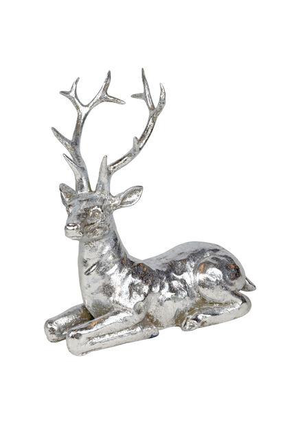 Ren i silver, Höjd 17 cm, Silver