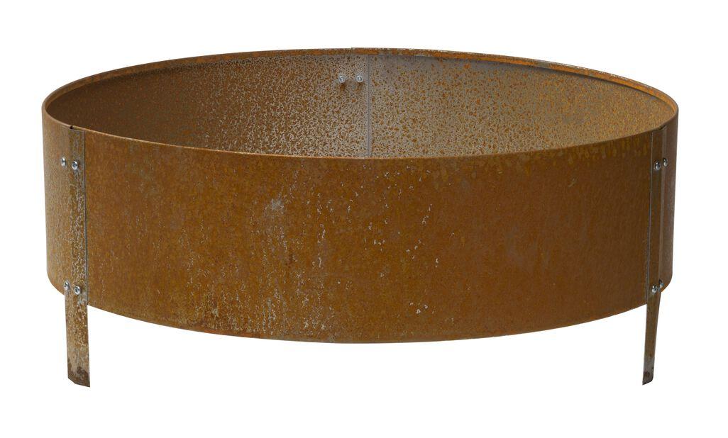 Odlingskrage i obehandlat järn, Ø60 cm, Grå