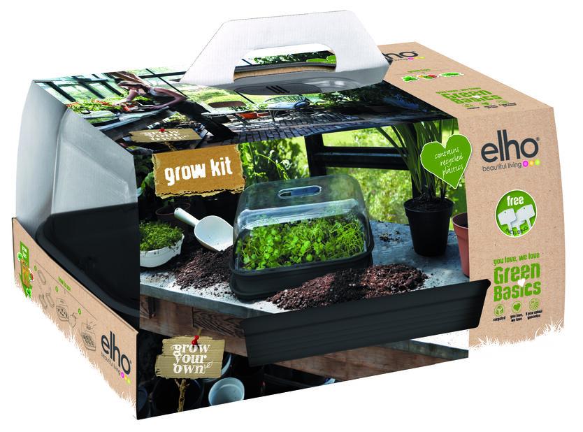 Odlingskit Green Basics Grow Kit All in one, Längd 49 cm, Svart