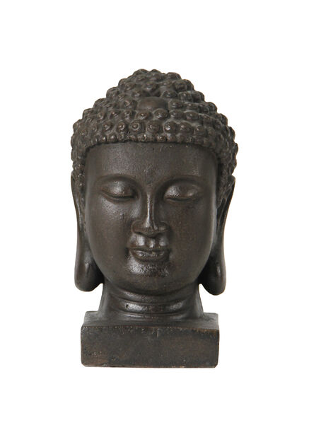Dekoration Buddha, Höjd 21.5 cm, Svart