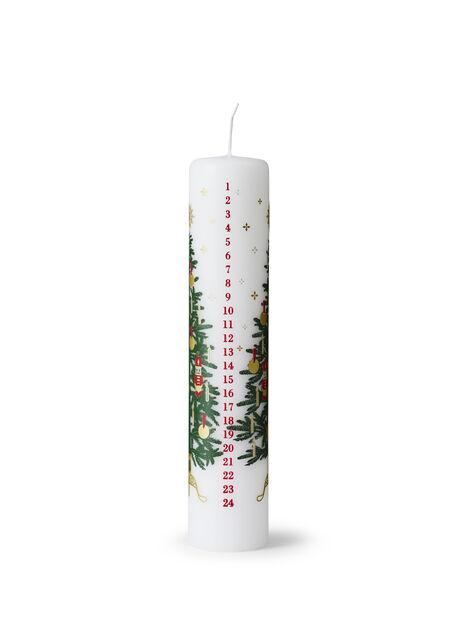 Kalenderljus, Höjd 25 cm, Vit