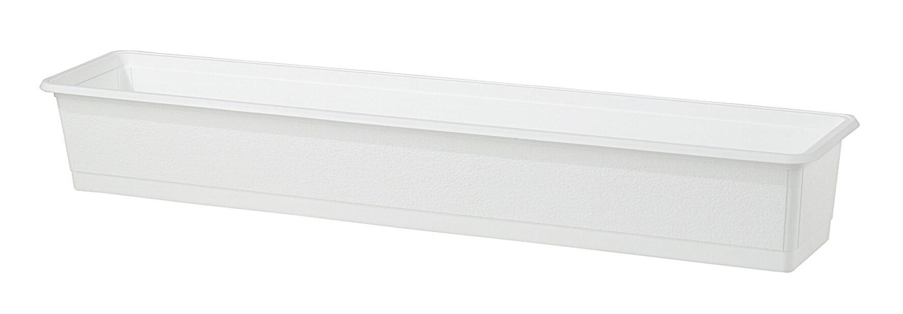 Balkonglåda Structure 90 cm vit