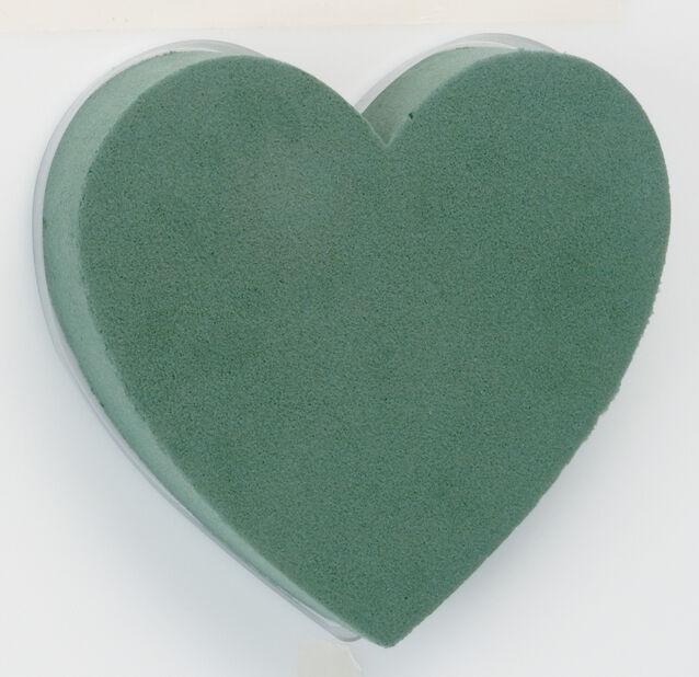 Oasis hjärta 18 cm grön