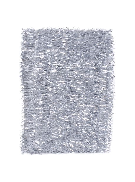 Julgransglitter, Längd 5 m, Silver