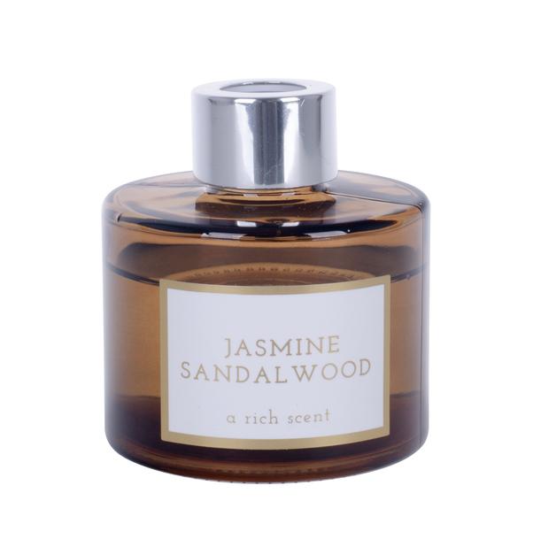 Doftpinnar Jasmine/Sandalwood, Höjd 20 cm, Transparent