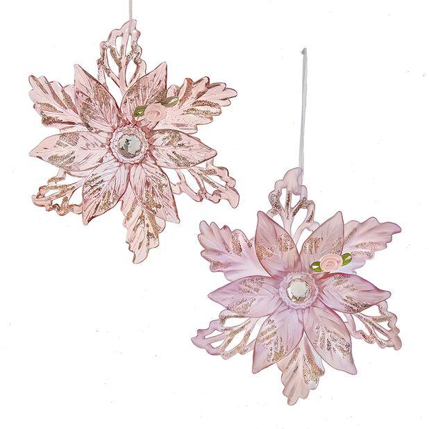 Julpynt stjärnor, Höjd 13.5 cm, Rosa