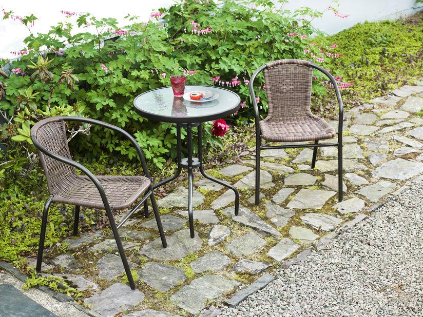 Caféset Alvdalen, 2 sittplatser, Brun