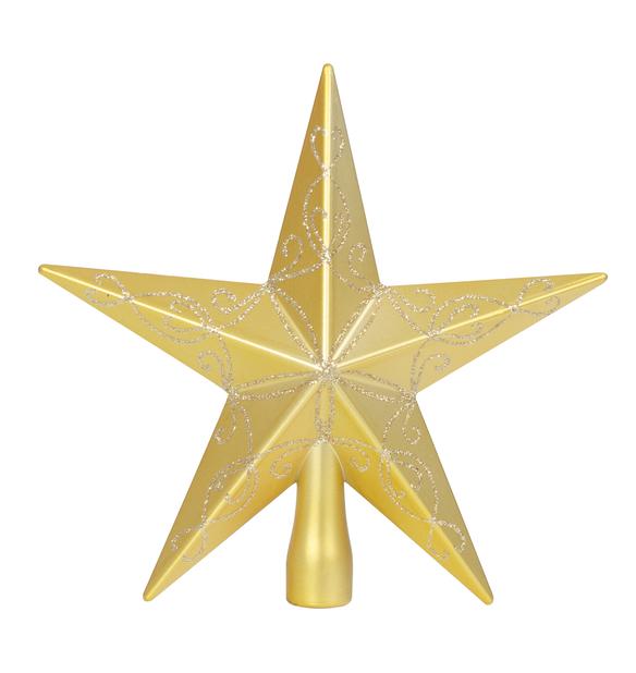 Toppstjärna Gina, Höjd 20 cm, Guld
