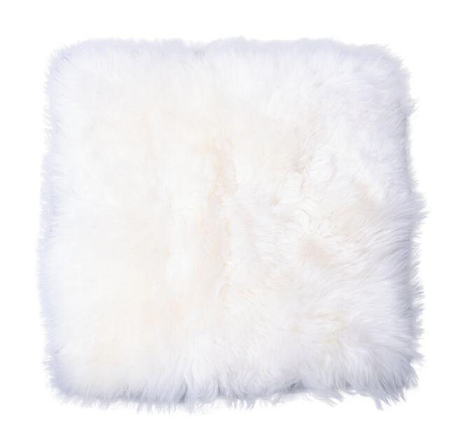 Sittdyna fårskinn, Längd 36 cm, Vit