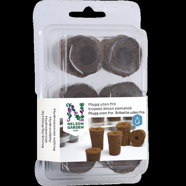 Hydroponisk odlingsplugg utan frö, 6-pack, Flerfärgad