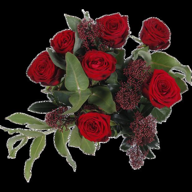 Bukett rosor jul, Höjd 40 cm, Flerfärgad