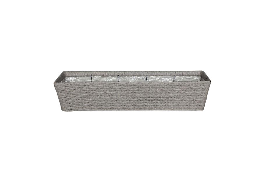 Balkonglåda Frankfurt 92 cm grå