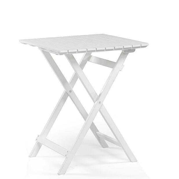 Cafébord Malva, Längd 58 cm, Vit