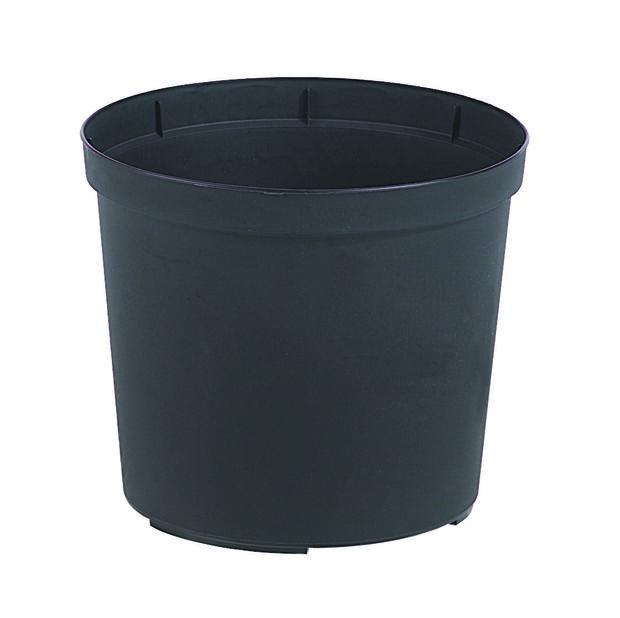 Kruka Ø21cm, svart plast