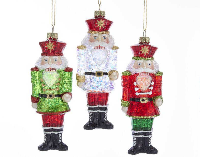 Julgranspynt Nötknäppare i glas, Höjd 15 cm, Flerfärgad