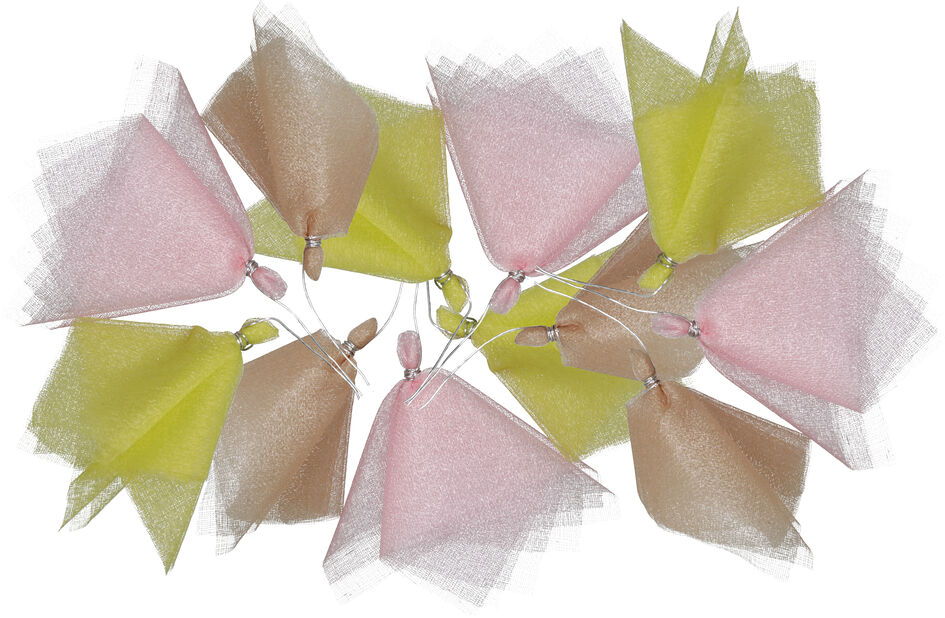 Påskpynt risdekoration tyll, 12-pack, Flera färger