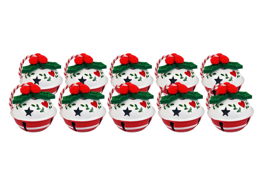 Julklockor, 10-pack, Vit
