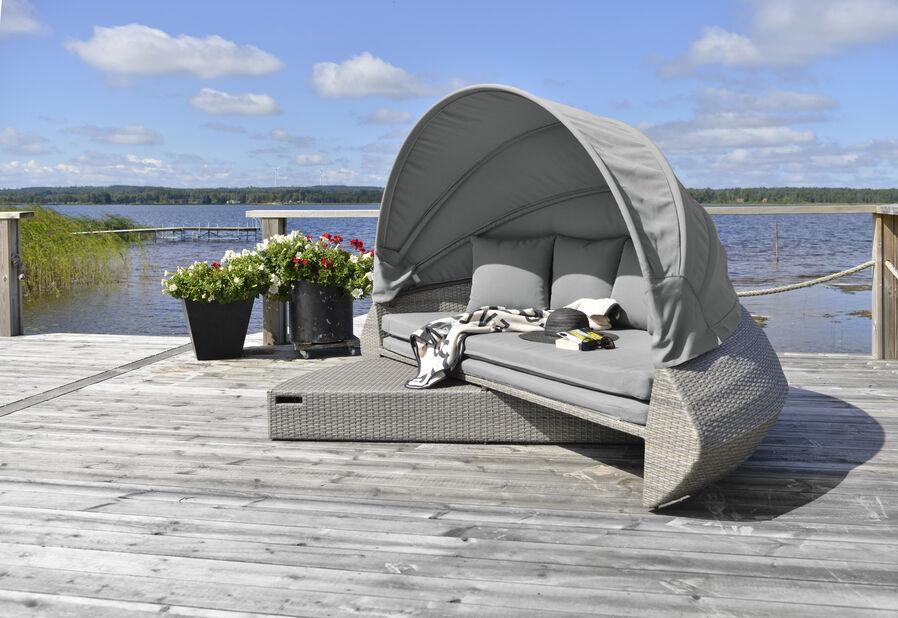 Loungegrupp Callao, Bredd 226 cm, Grå