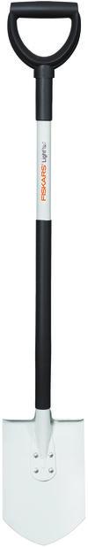 Spade spetsig lätt Fiskars, Längd 105 cm, Vit
