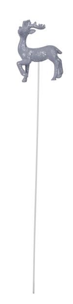 Dekorationspinne med ren, Höjd 5 cm, Röd