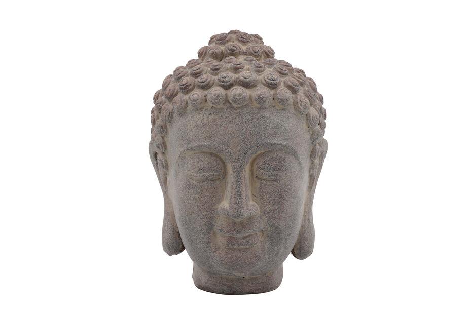 Buddha huvud, Höjd 23 cm, Grå