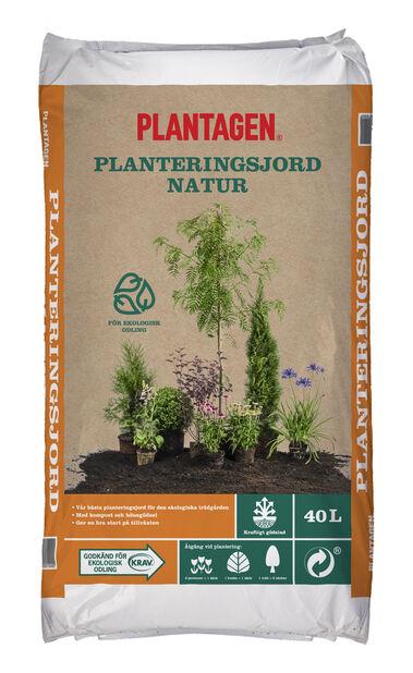 Planteringsjord Natur KRAV, 40 L