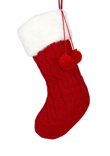 Julstrumpa, Längd 45 cm, Röd