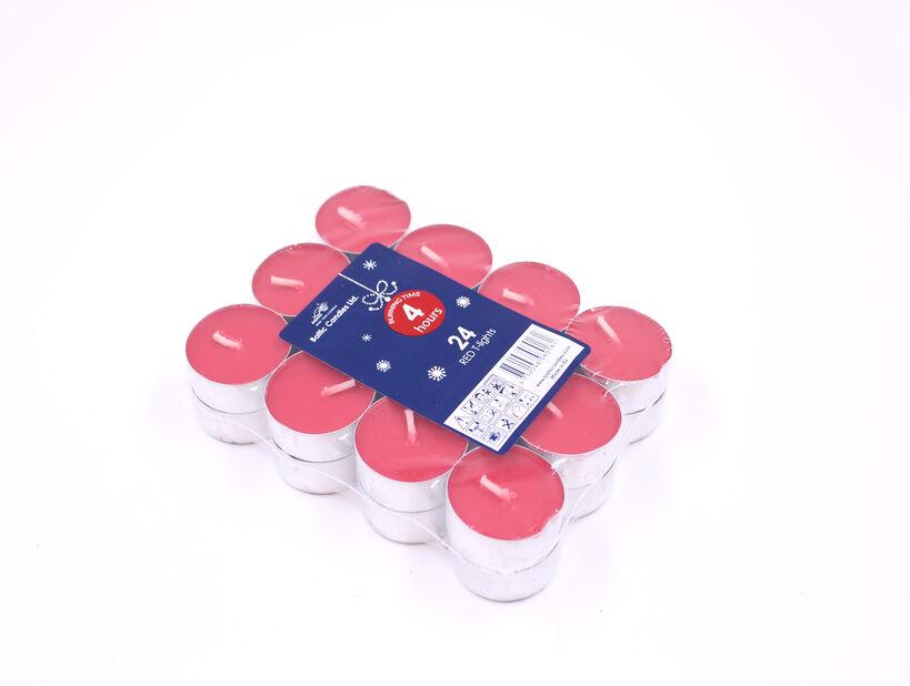 Värmeljus 24-pack, 24-pack, Röd