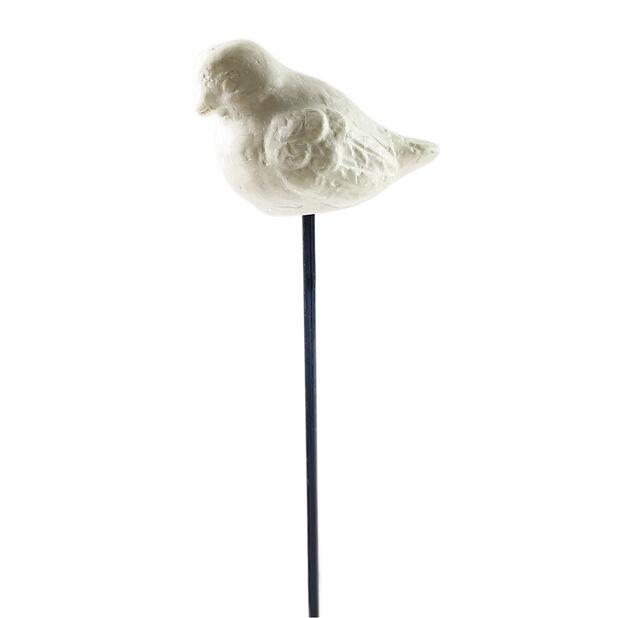 Dekorationspinne fågel, Höjd 30 cm, Vit