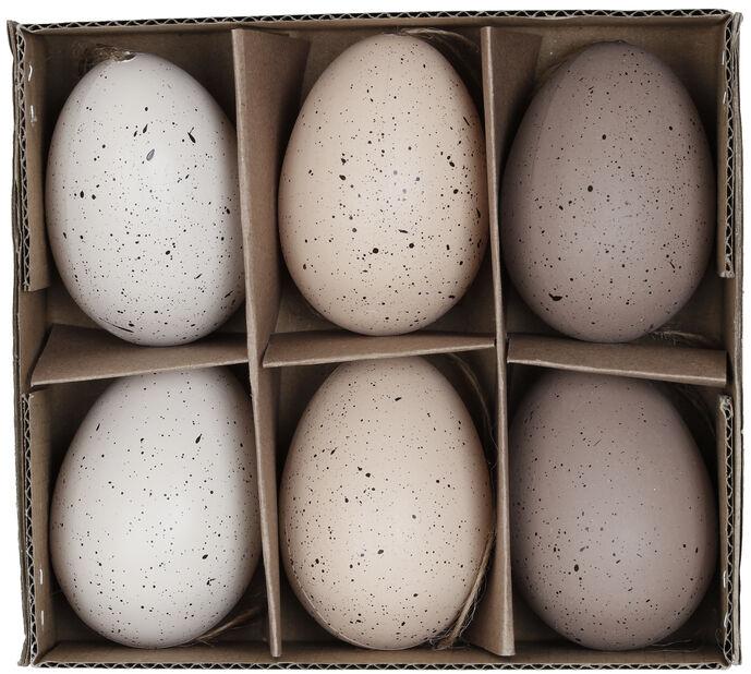 Påskpynt rishängen ägg, Höjd 6 cm, Flera färger