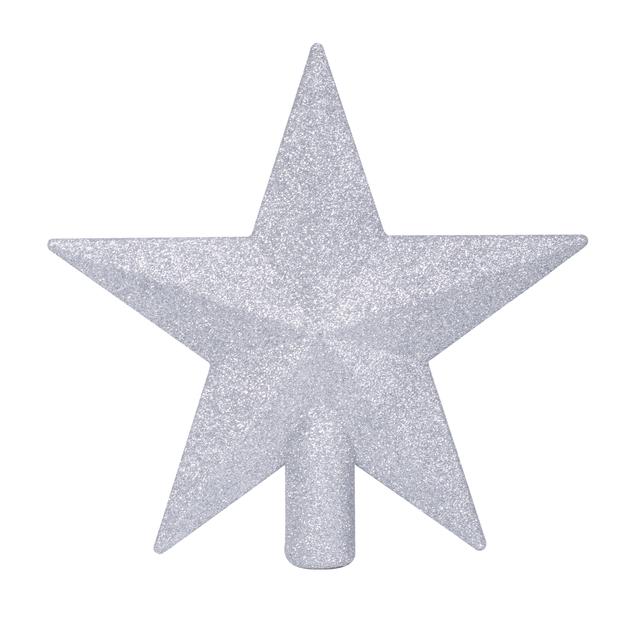Toppstjärna Glitter, Ø20 cm, Svart