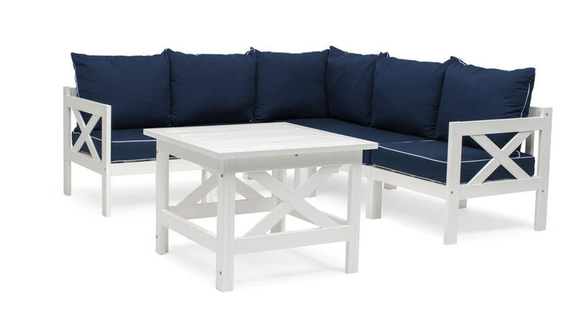 Malva loungeset, 5 sittplatser, Vit