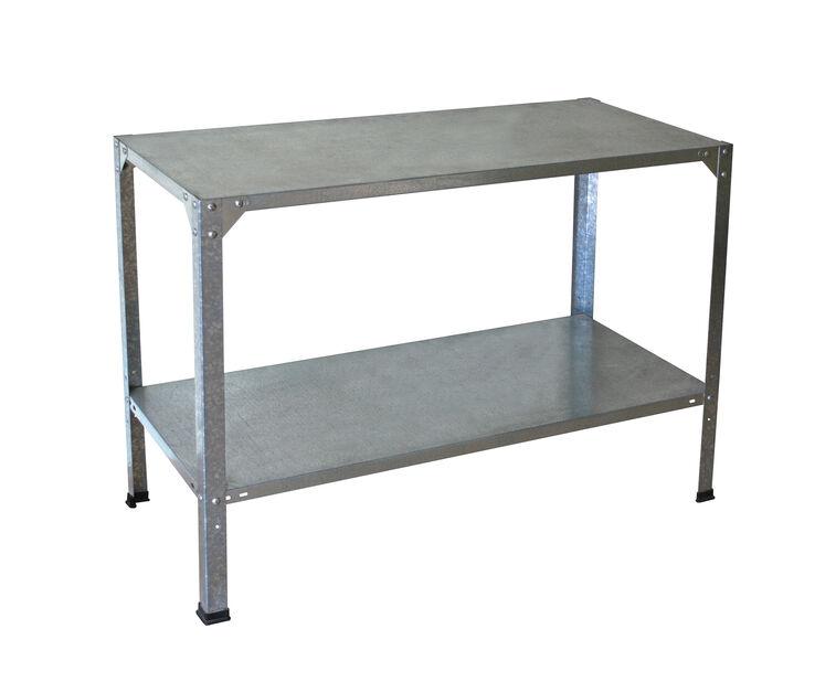 Arbetsbänk i stål, Höjd 80 cm, Grå