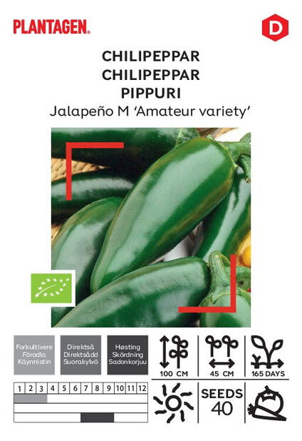 Mexikansk chilipeppar Jalapeño