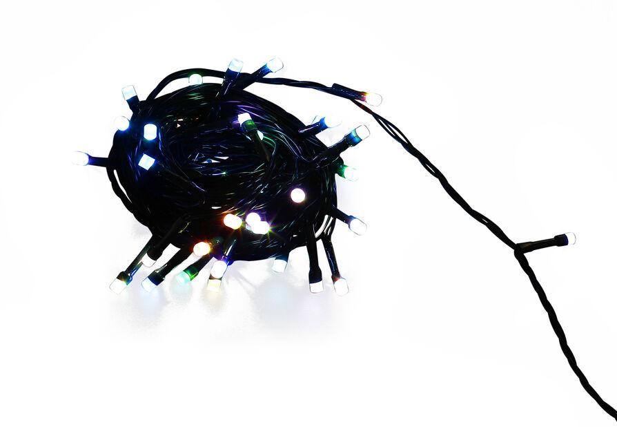 Ljusslinga Ola 100 LED-lampor 3 färger, Längd 10 m, Flerfärgad