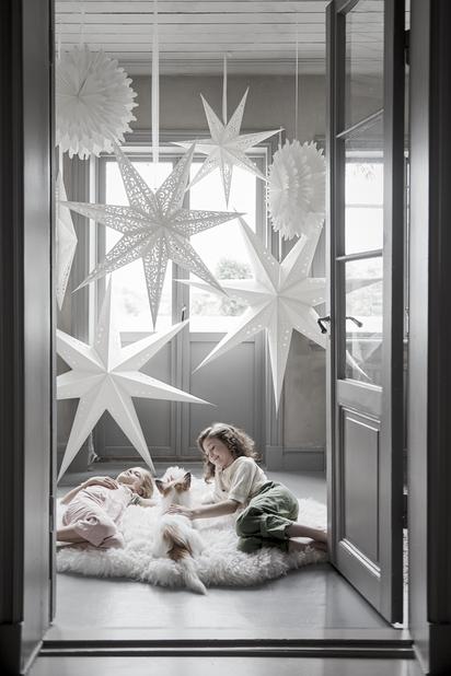 Adventsstjärna Snowflake, Ø50 cm, Vit