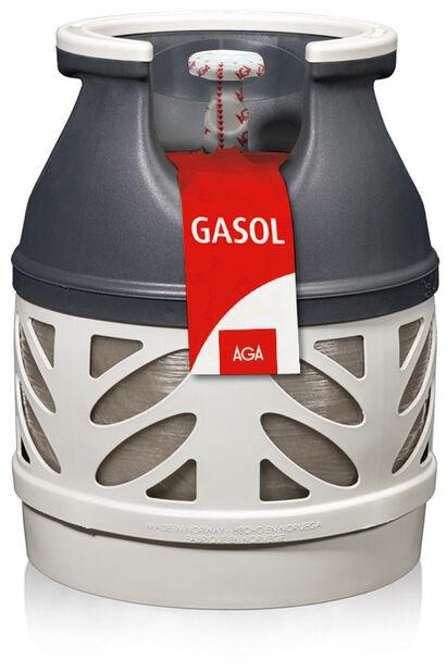 Gasolflaska PC5 utan gas, 5 kg