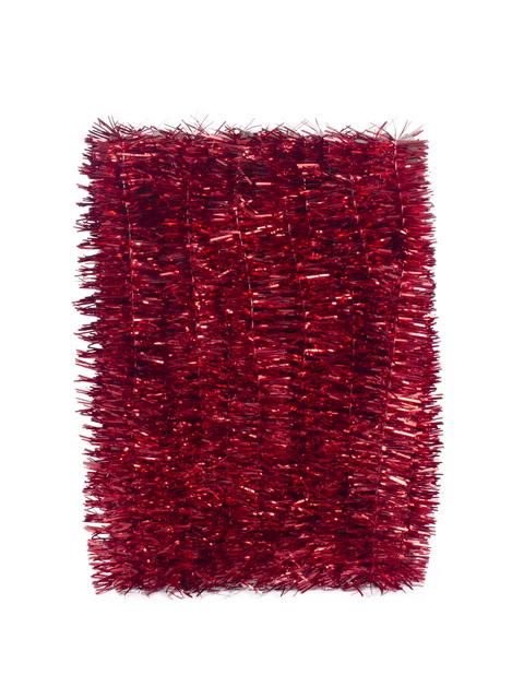 Julgransglitter, Längd 5 m, Röd