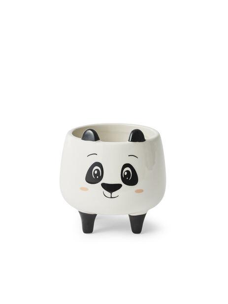 Minikruka panda, Ø8.5 cm, Vit