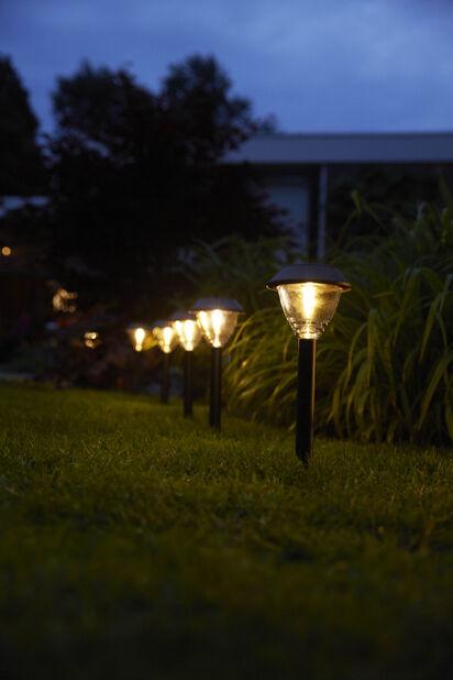 Trädgårdsljus Kodiak, Höjd 40 cm, Grå