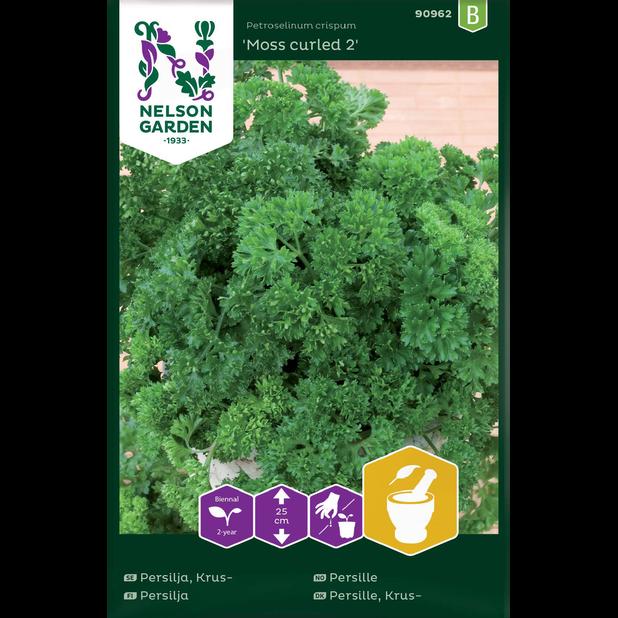 Krusbladig persilja 'Moss curled 2', Flerfärgad