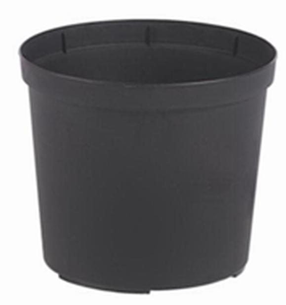 Kruka Ø24cm, svart plast
