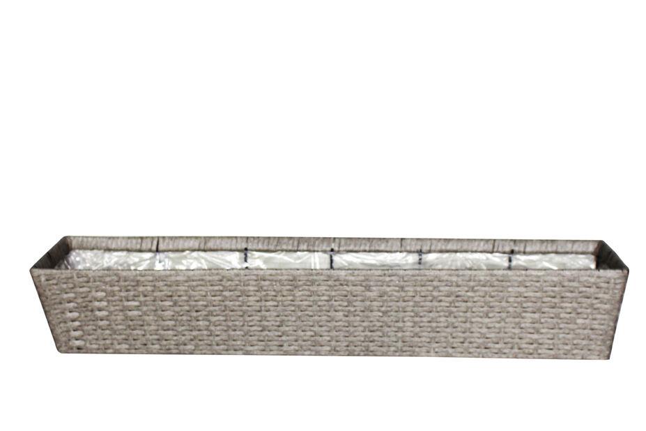 Balkonglåda Frankfurt, Längd 72 cm, Grå