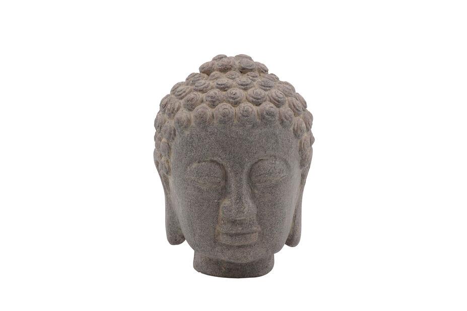 Buddha huvud, Höjd 16 cm, Grå