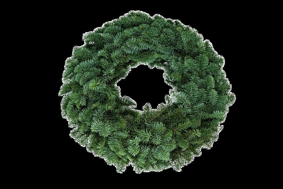 Krans ädelgran, Ø75 cm, Grön