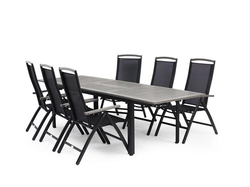 Matgrupp Ammi, 6 sittplatser, Grå