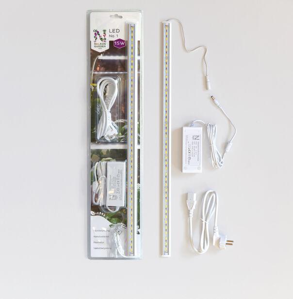 Växtbelysn. LED No.1 60cm 15W m.adapter, Längd 60 cm