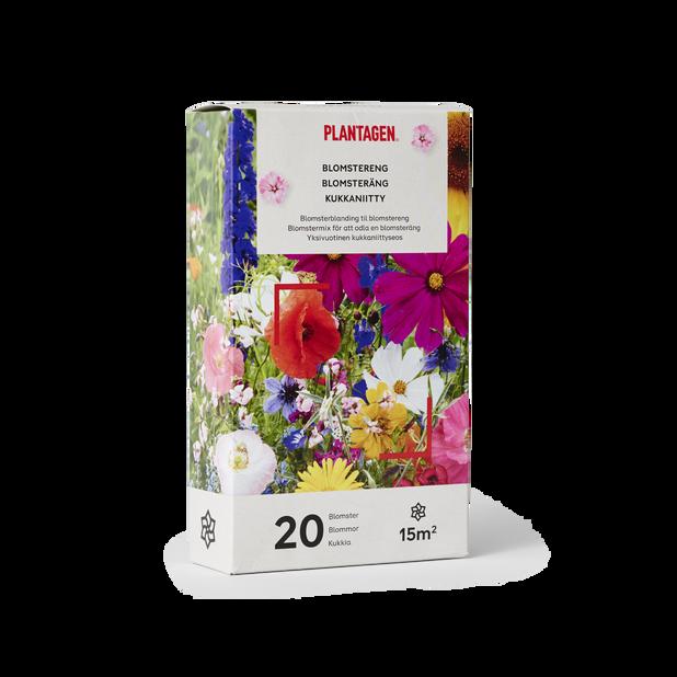 Blomsteräng, 15 kvm, Flerfärgad