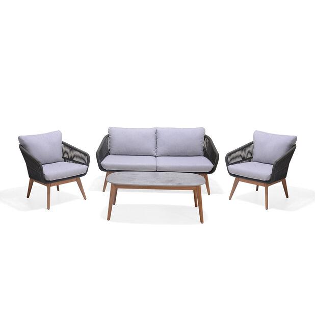 Loungeset Ameland, 4 sittplatser, Grå