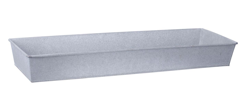 Odlingstråg i zink L, Längd 72.5 cm, Silver